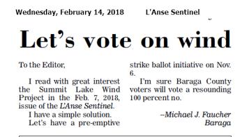 Let's Vote on Wind