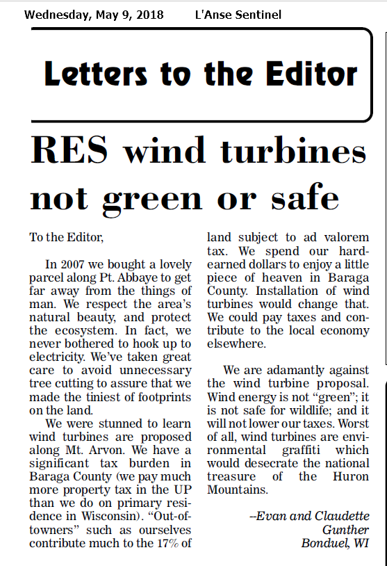 Wind Turbines nor Green or Safe