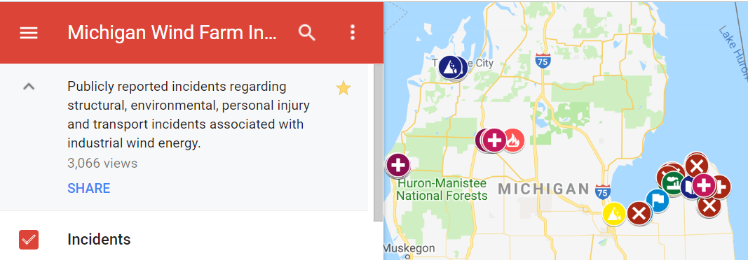 Michigan Wind Farm Accident Map – Save The Huron Mountains